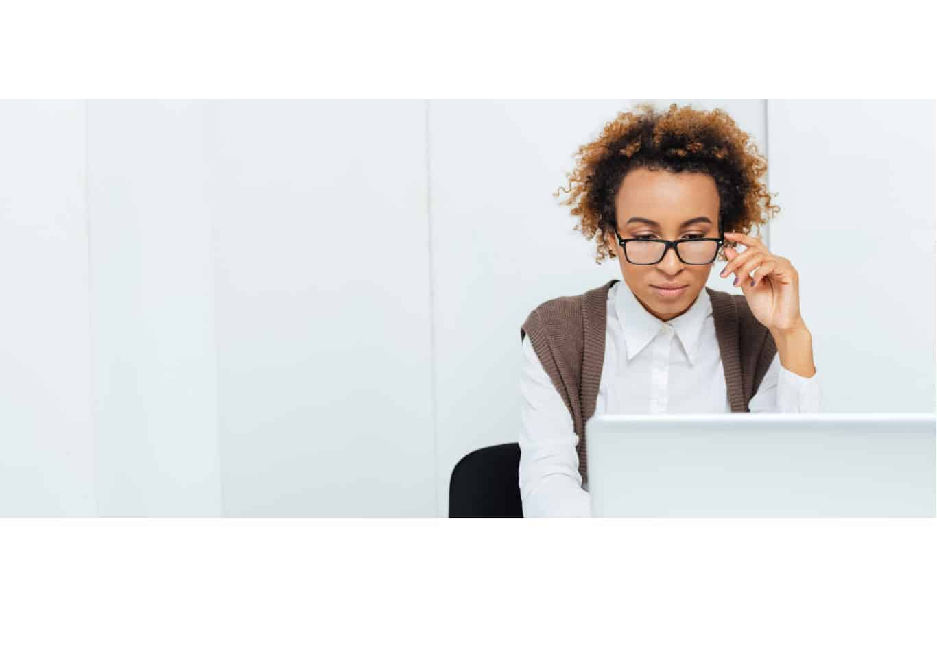 Concentrating African American Woman Accountant